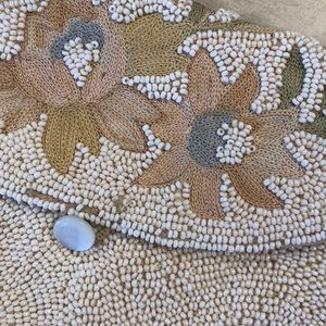 Vintage Antique Intricate Seed Bead Embroider bag